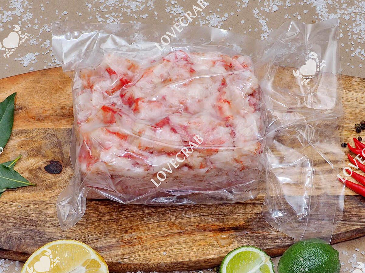 cалатное мясо камчатского краба