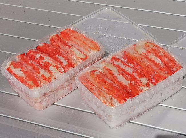 очищенное мясо камчатского краба